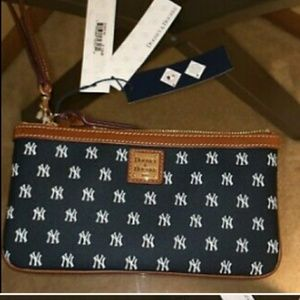 Dooney and Bourke NY Yankees wristlet